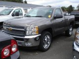 2012 Mocha Steel Metallic Chevrolet Silverado 1500 LT Regular Cab #72203804