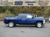 2013 Blue Topaz Metallic Chevrolet Silverado 1500 LT Crew Cab 4x4 #72203893