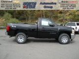 2013 Black Chevrolet Silverado 1500 LS Regular Cab 4x4 #72203888