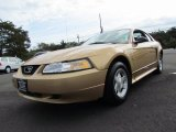 2000 Sunburst Gold Metallic Ford Mustang V6 Coupe #72204302