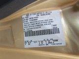 2000 Mustang Color Code for Sunburst Gold Metallic - Color Code: BP