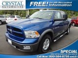 2011 Deep Water Blue Pearl Dodge Ram 1500 SLT Outdoorsman Crew Cab 4x4 #72204184