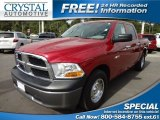 2010 Inferno Red Crystal Pearl Dodge Ram 1500 ST Crew Cab #72204181