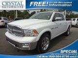 2011 Bright White Dodge Ram 1500 Laramie Crew Cab 4x4 #72204175