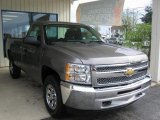 2012 Graystone Metallic Chevrolet Silverado 1500 Work Truck Regular Cab 4x4 #72246744