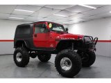 Flame Red Jeep Wrangler in 2006