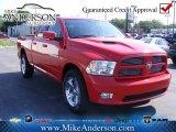 2012 Flame Red Dodge Ram 1500 Sport Quad Cab 4x4 #72246318