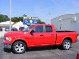 2012 Flame Red Dodge Ram 1500 Outdoorsman Quad Cab 4x4 #72246317
