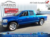 2008 Electric Blue Pearl Dodge Ram 1500 SLT Quad Cab #72246713