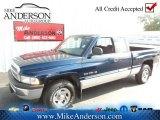 2001 Patriot Blue Pearl Dodge Ram 1500 ST Club Cab #72246689