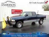 2001 Patriot Blue Pearl Dodge Ram 1500 ST Club Cab 4x4 #72246679