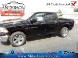2012 Black Dodge Ram 1500 Big Horn Crew Cab 4x4 #72246662