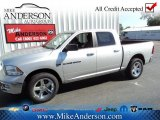 2012 Bright Silver Metallic Dodge Ram 1500 Big Horn Crew Cab 4x4 #72246651