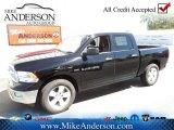 2012 Black Dodge Ram 1500 Big Horn Crew Cab #72246641