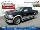 2012 Black Dodge Ram 1500 Laramie Crew Cab 4x4 #72246639