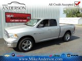 2012 Bright Silver Metallic Dodge Ram 1500 Big Horn Quad Cab 4x4 #72246638