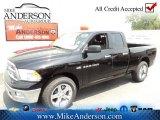 2012 Black Dodge Ram 1500 Big Horn Quad Cab 4x4 #72246637