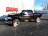 2012 Black Dodge Ram 1500 Big Horn Quad Cab 4x4 #72246632