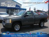 2011 Steel Green Metallic Chevrolet Silverado 1500 LS Regular Cab #72246814