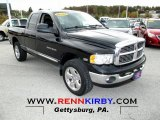 2004 Black Dodge Ram 1500 Laramie Quad Cab 4x4 #72245865