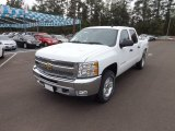 2013 Summit White Chevrolet Silverado 1500 LT Crew Cab 4x4 #72246028