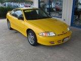 2002 Yellow Chevrolet Cavalier Coupe #72246774
