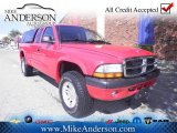 2004 Flame Red Dodge Dakota Sport Club Cab 4x4 #72246561
