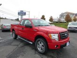 2010 Vermillion Red Ford F150 STX SuperCab 4x4 #72245598