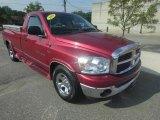 2007 Inferno Red Crystal Pearl Dodge Ram 1500 SLT Regular Cab #72246556