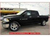 2012 Black Dodge Ram 1500 Lone Star Crew Cab #72245835