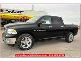 2012 Black Dodge Ram 1500 Lone Star Crew Cab 4x4 #72245834