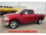 2012 Deep Cherry Red Crystal Pearl Dodge Ram 1500 Lone Star Quad Cab 4x4 #72245830