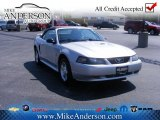 2001 Silver Metallic Ford Mustang V6 Convertible #72246353