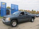 2009 Blue Granite Metallic Chevrolet Silverado 1500 LT Extended Cab 4x4 #72245557