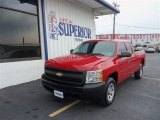 2008 Victory Red Chevrolet Silverado 1500 Work Truck Extended Cab #72245549