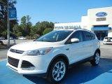 2013 White Platinum Metallic Tri-Coat Ford Escape Titanium 2.0L EcoBoost #72346662