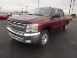 2013 Deep Ruby Metallic Chevrolet Silverado 1500 LT Crew Cab #72346976