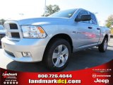 2012 Bright Silver Metallic Dodge Ram 1500 Express Quad Cab #72346759