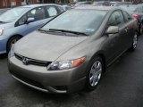 2007 Galaxy Gray Metallic Honda Civic LX Coupe #7220581