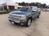 2009 Blue Granite Metallic Chevrolet Silverado 1500 LT Crew Cab #72346969