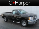 2012 Black Chevrolet Silverado 1500 LT Regular Cab 4x4 #72347171