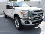2012 White Platinum Metallic Tri-Coat Ford F250 Super Duty Lariat Crew Cab 4x4 #72346857