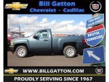 2013 Blue Granite Metallic Chevrolet Silverado 1500 Work Truck Regular Cab #72347221
