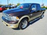 2011 Rugged Brown Pearl Dodge Ram 1500 Laramie Longhorn Crew Cab 4x4 #72347141