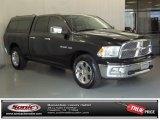 2009 Brilliant Black Crystal Pearl Dodge Ram 1500 Laramie Quad Cab #72346897