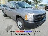 2012 Graystone Metallic Chevrolet Silverado 1500 Work Truck Crew Cab 4x4 #72346998