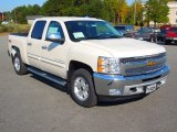 2013 White Diamond Tricoat Chevrolet Silverado 1500 LT Crew Cab 4x4 #72347101