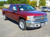 2013 Deep Ruby Metallic Chevrolet Silverado 1500 LT Extended Cab #72347098