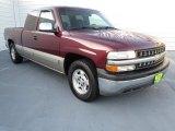 2002 Dark Carmine Red Metallic Chevrolet Silverado 1500 LS Extended Cab #72397963