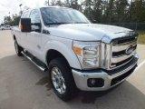 2012 White Platinum Metallic Tri-Coat Ford F250 Super Duty Lariat Crew Cab 4x4 #72398470